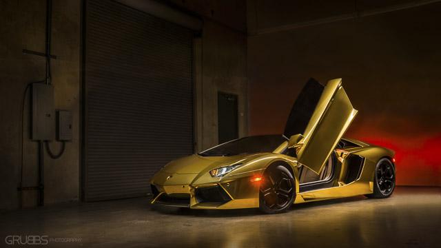 Gold Aventador - PFS San Diego