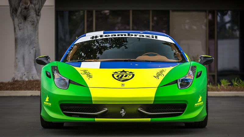 Team Brazil Ferrari 458 - Protective Film Solutions