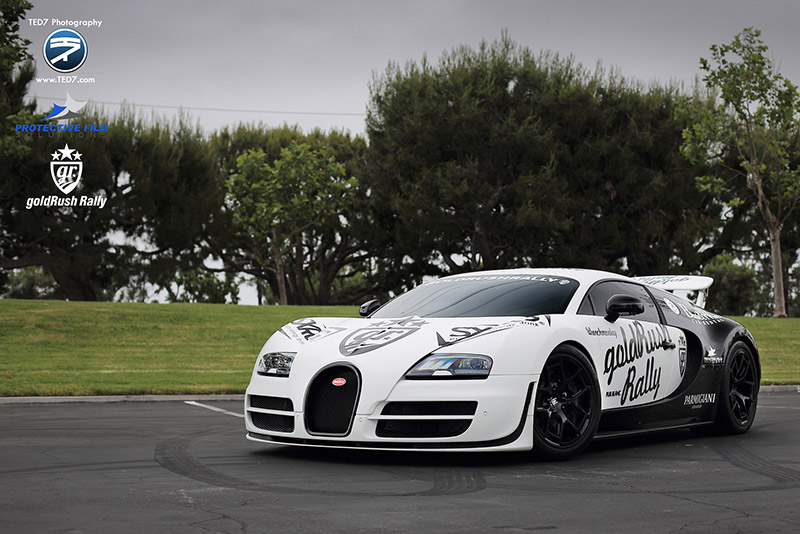 Bugatti Veyron Advertising Wrap