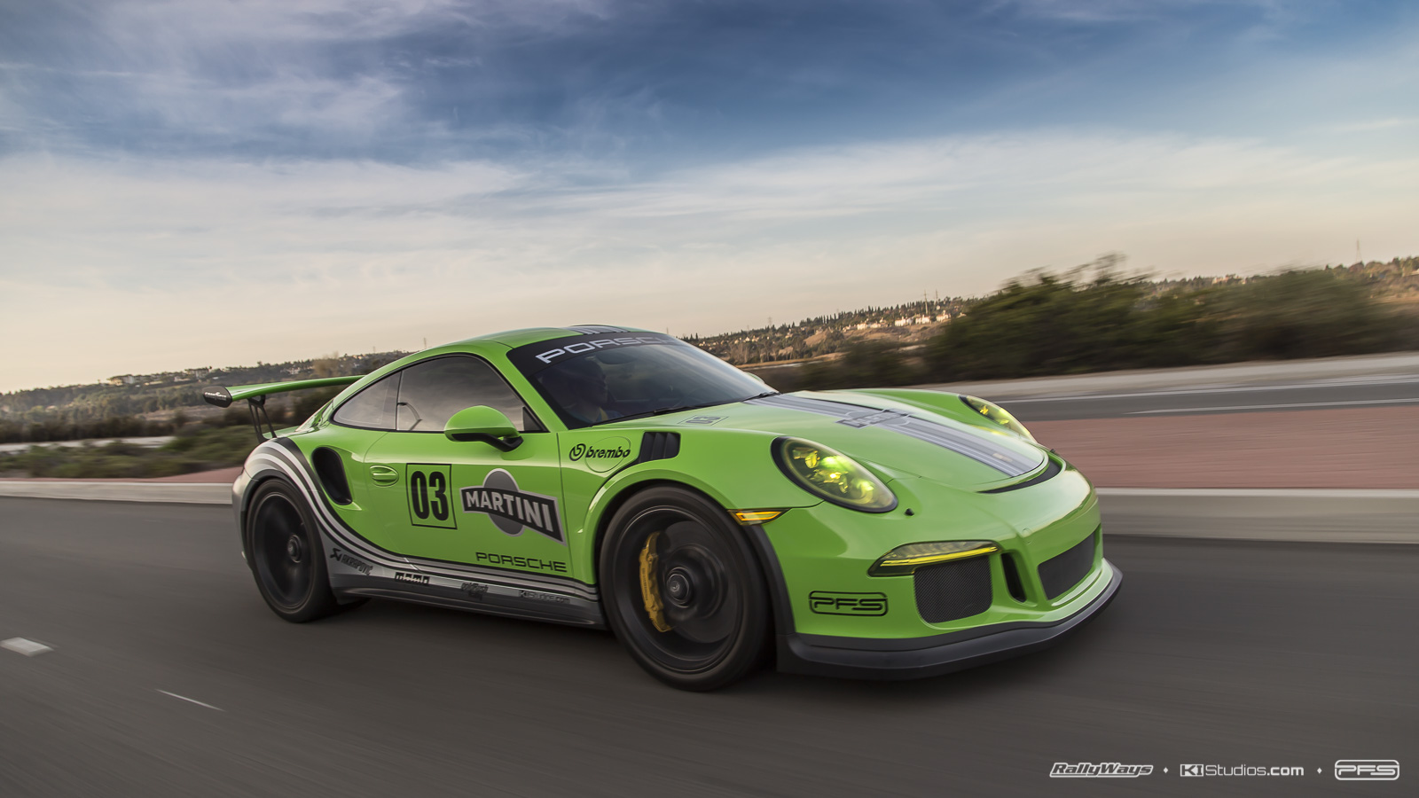 Green Martini Porsche 991 GT3 RS