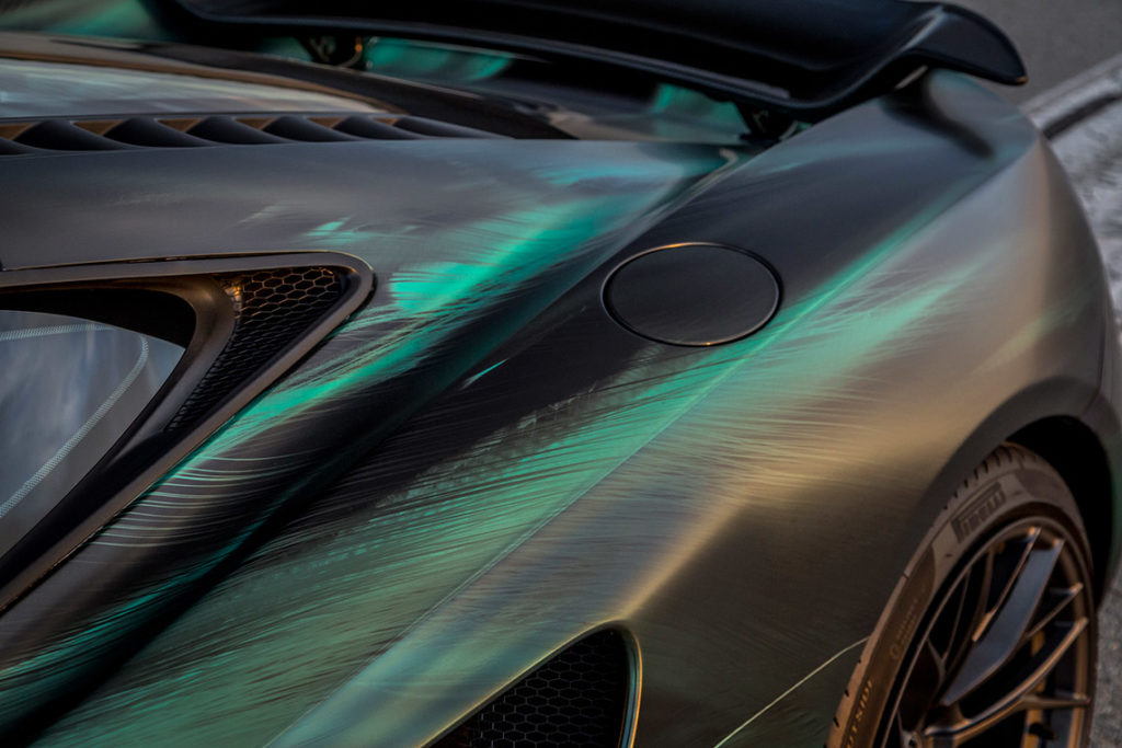 Peacock Green Wrap Detail - McLaren MP4-12C