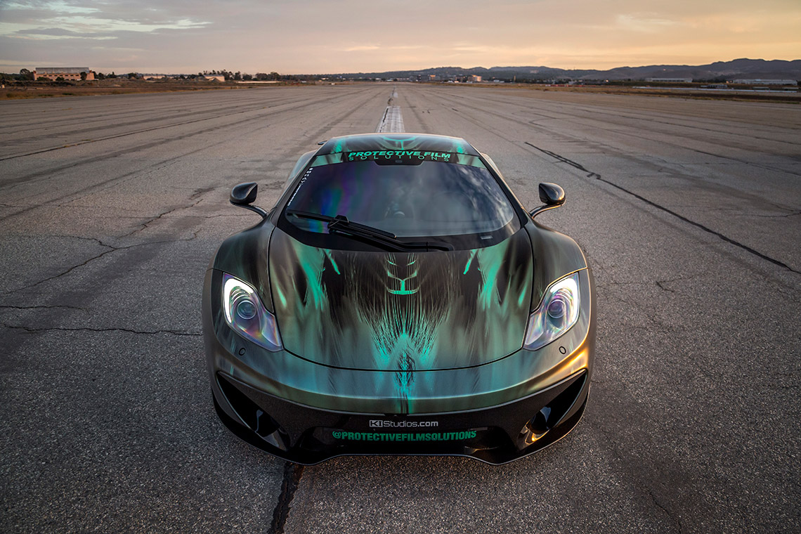 faces of the protective film solutions mclaren mp4 12c