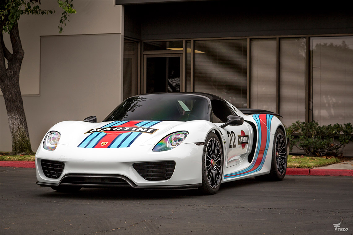 Porsche 918 Spyder Martini Livery Protection And Graphics