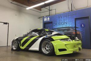 Porsche Race Car Wrapping
