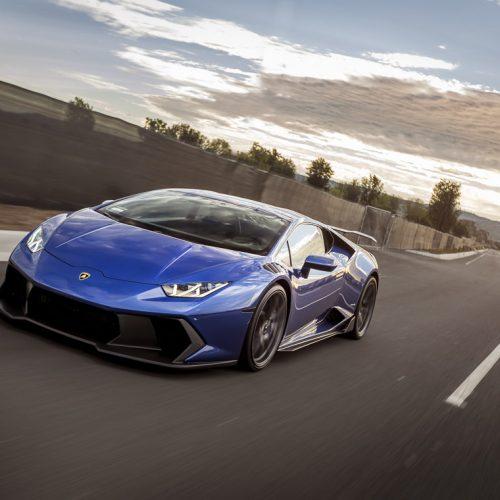 Blue Novara Lamborghini Huracan Rolling Shot by Ted 7