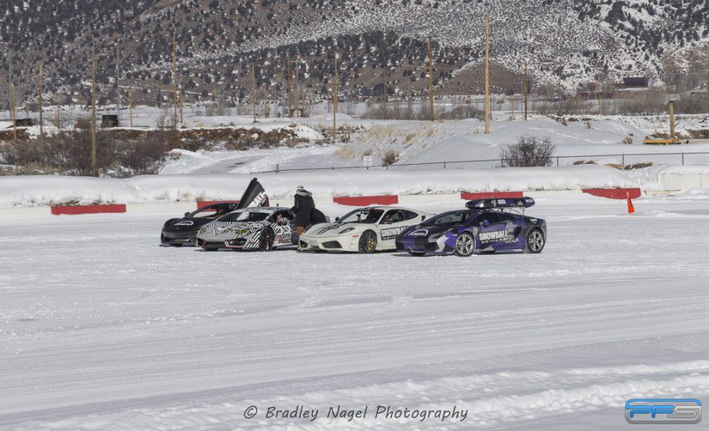 Lamborghinis in the Snow