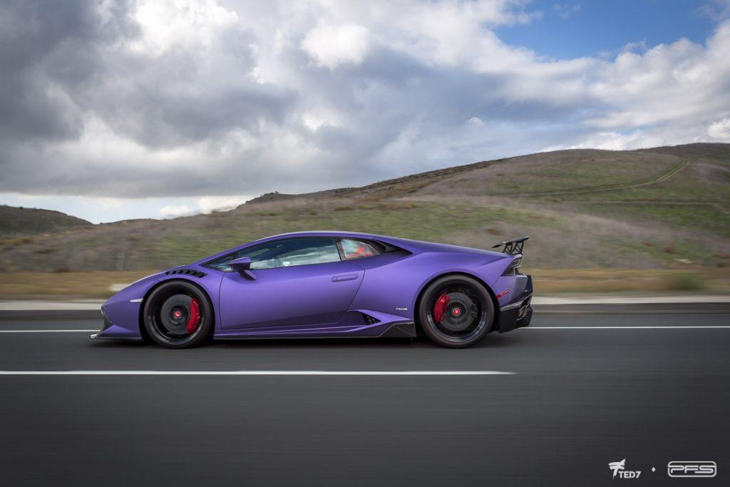 Purple Vorsteiner Novara Lamborghini Huracan
