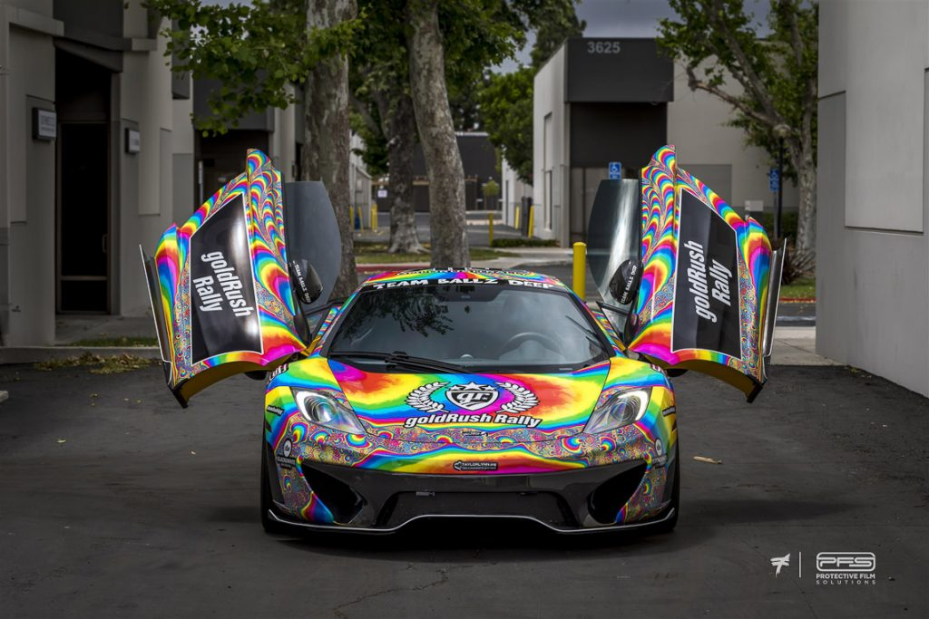 Gold Rush Rally 9 Liveries 3 - Tie Dye McLaren
