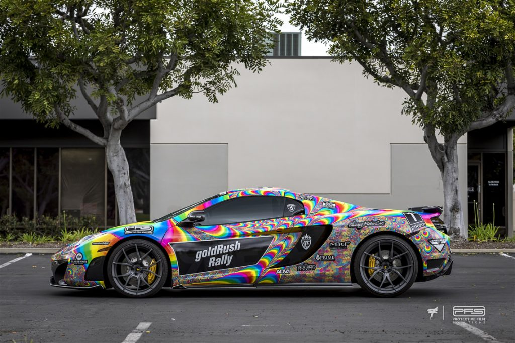 Gold Rush Rally 9 Liveries 4 - Tie Dye McLaren