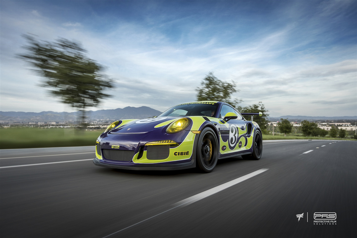 Protective Film Solutions >> Fabulous Seventies Porsche 991 GT3 RS Wrap - Protective ...