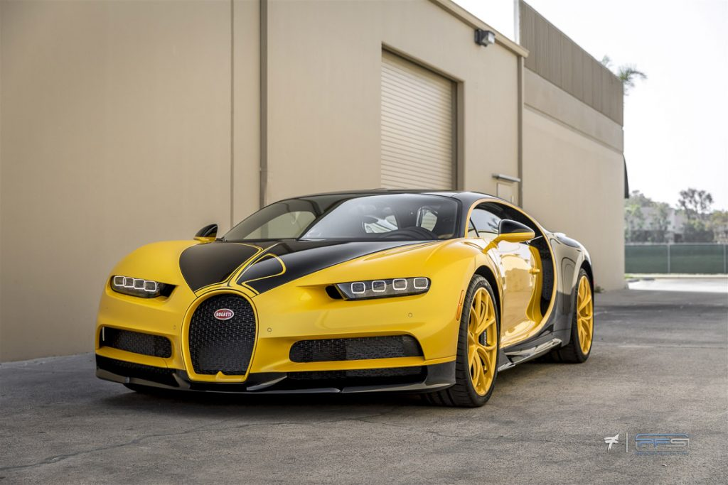 Bugatti Chiron Yellow Hellbee at Protective Film Solutions