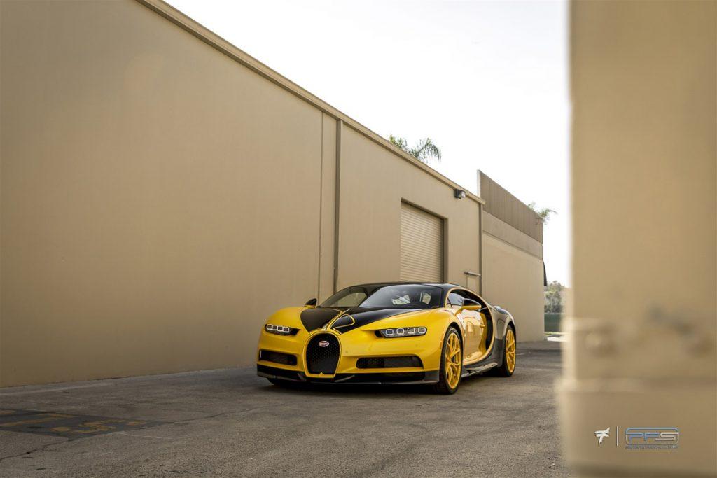 Bugatti Chiron Yellow-Black