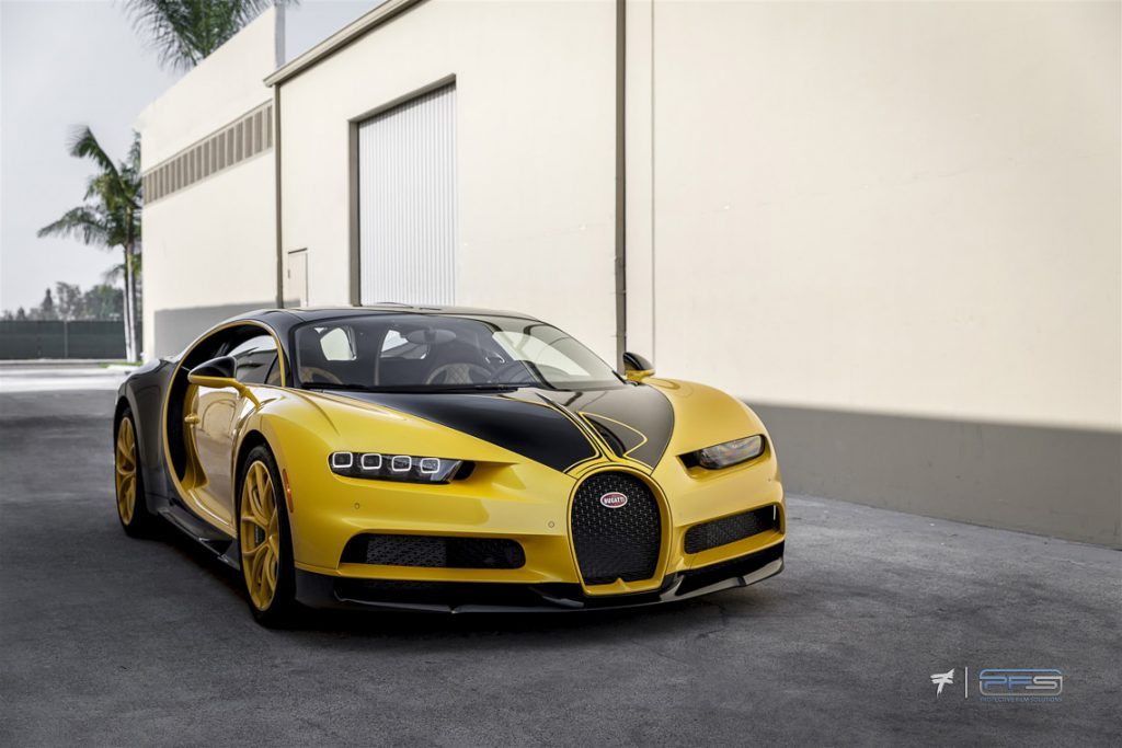 Bugatti Chiron in Yellow