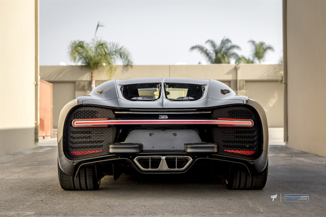 Bugatti Chiron Rear View - Protective Film Solutions