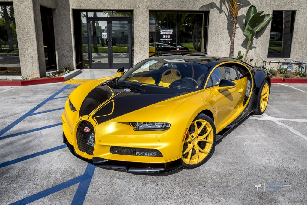 Bugatti Chiron at Protective Film Solutions in Orange County.