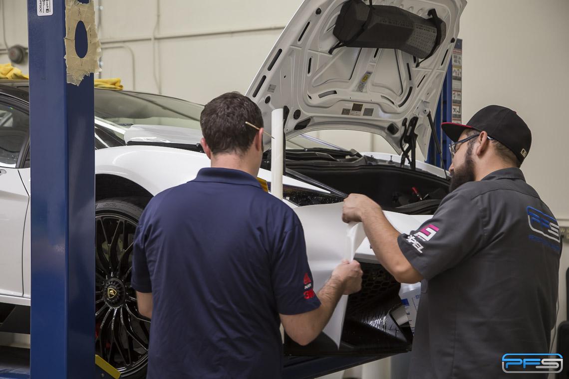 Lamborghini Clear Bra Installation - PFS