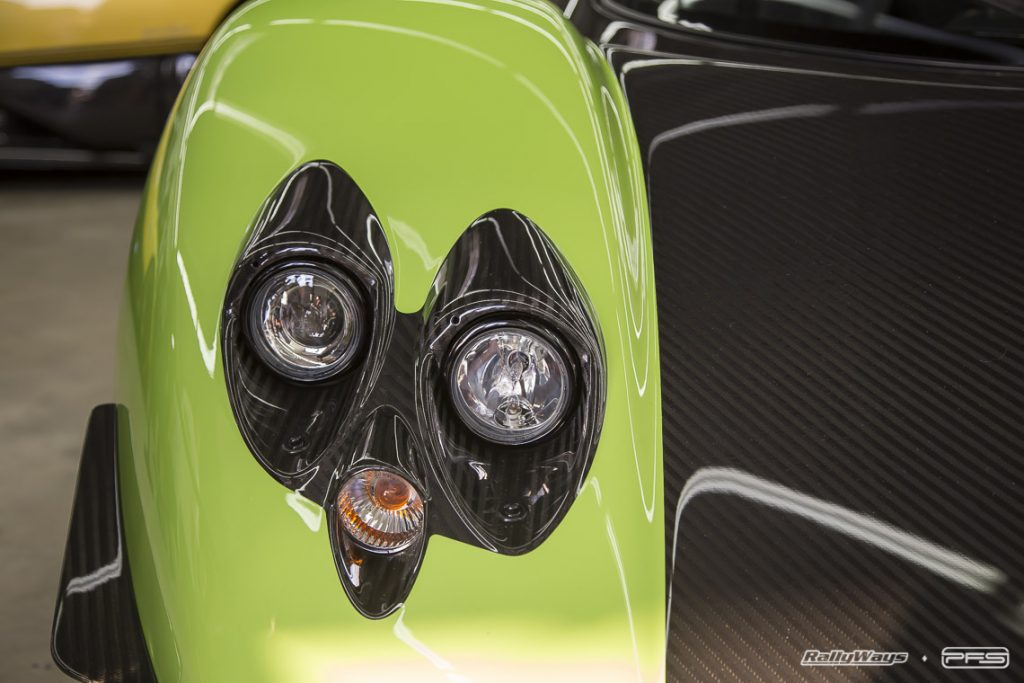 Close Look at a Green Pagani Zonda