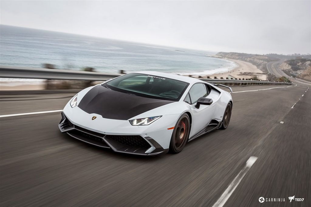 Protected Lamborghini Huracan on the Road
