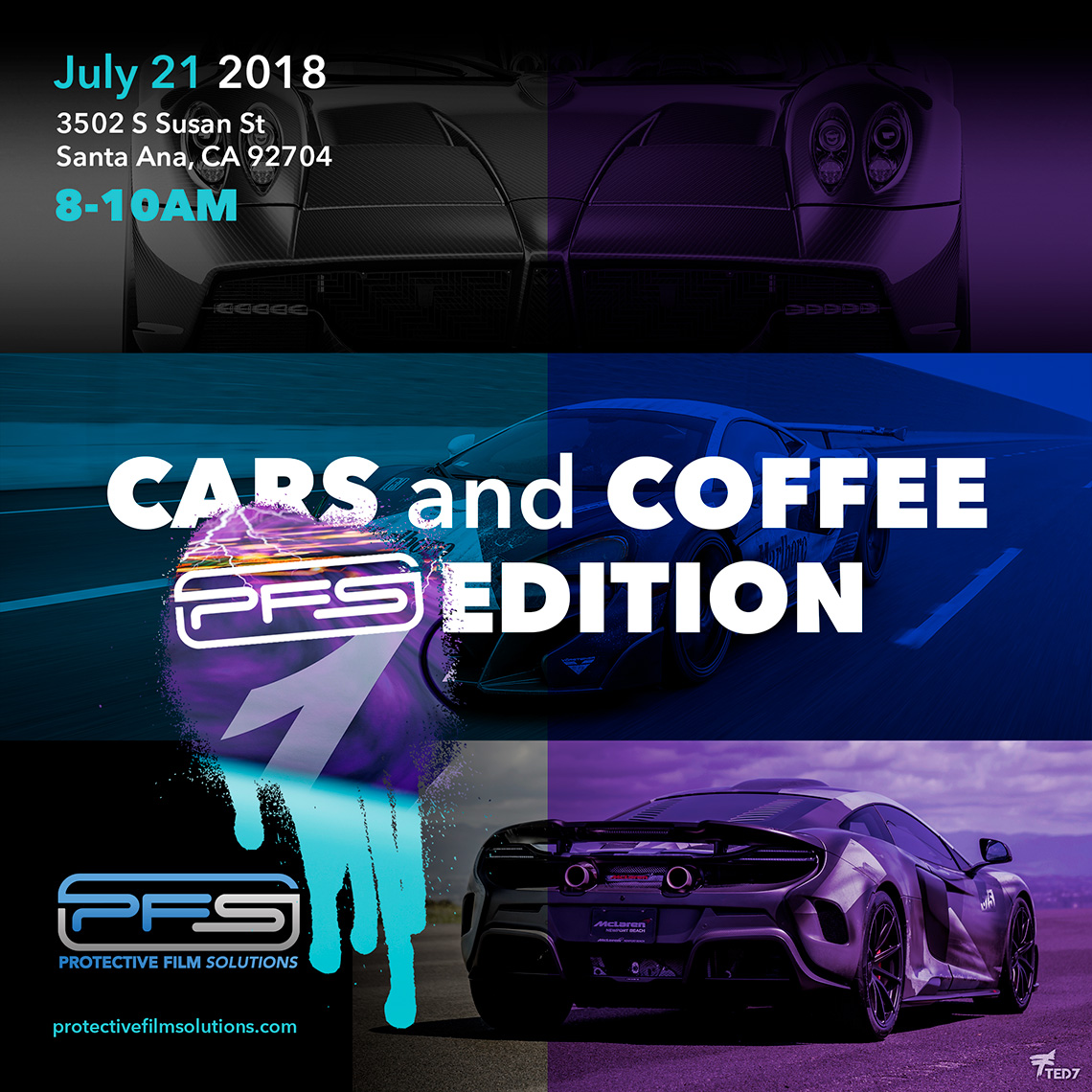 Cars and Coffee PFS Edition July 2018 Flyer