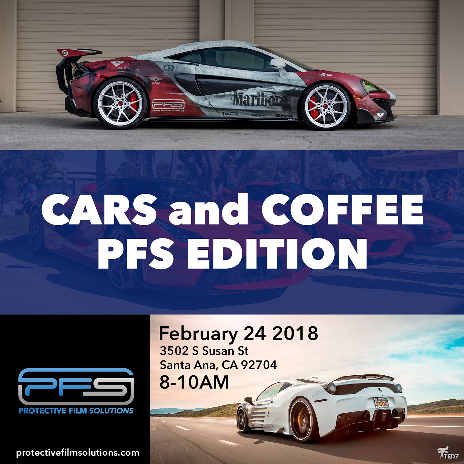 Cars and Coffee PFS Edition Square Flyer