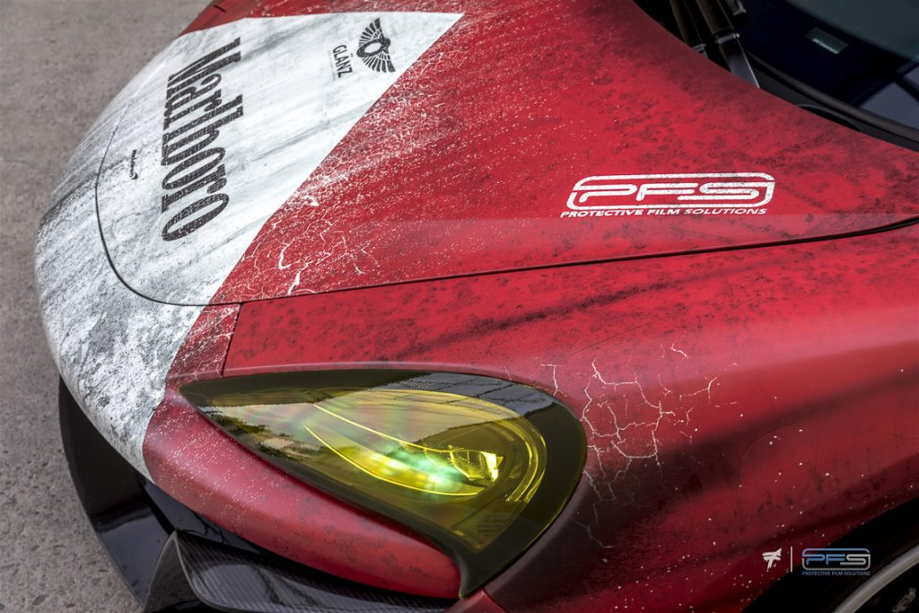 Endurance Racing Yellow Headlights - Protective Film Solutions.