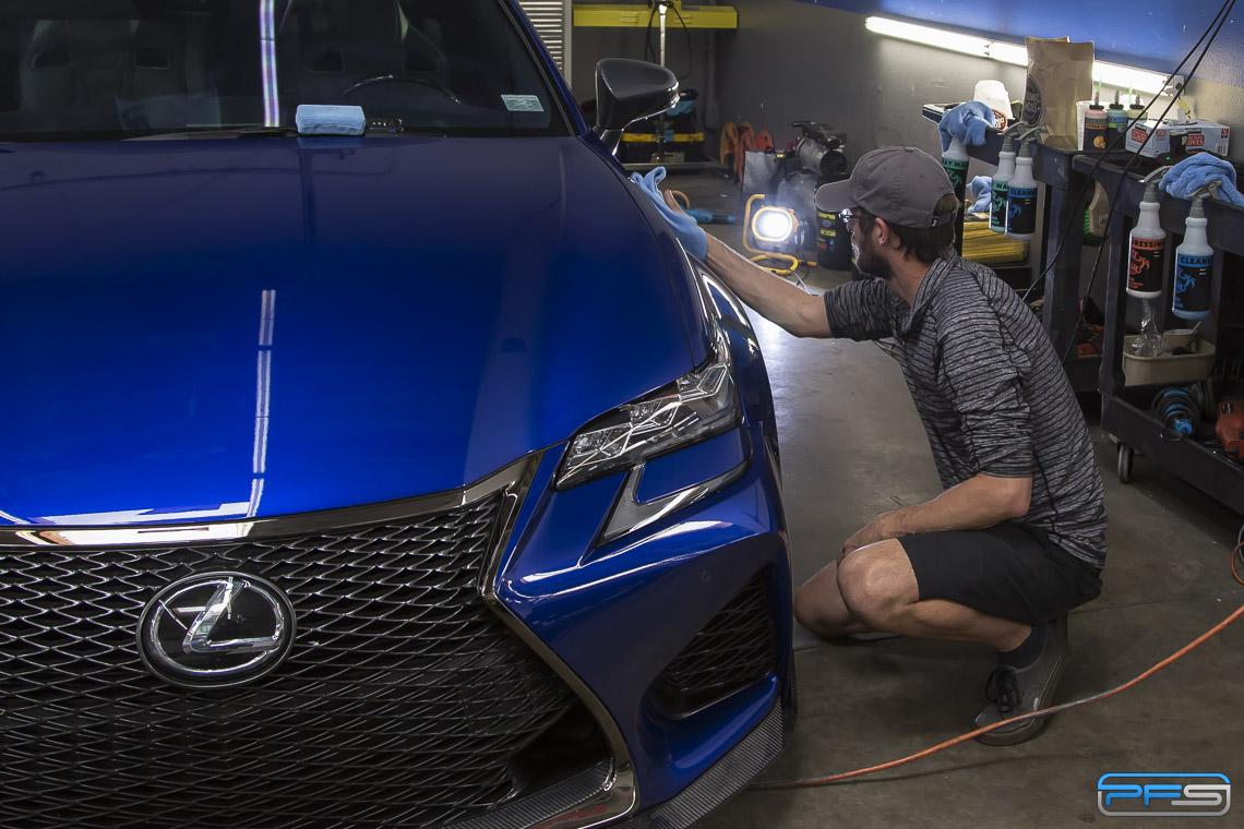 Ceramic Coating Application on a Lexus