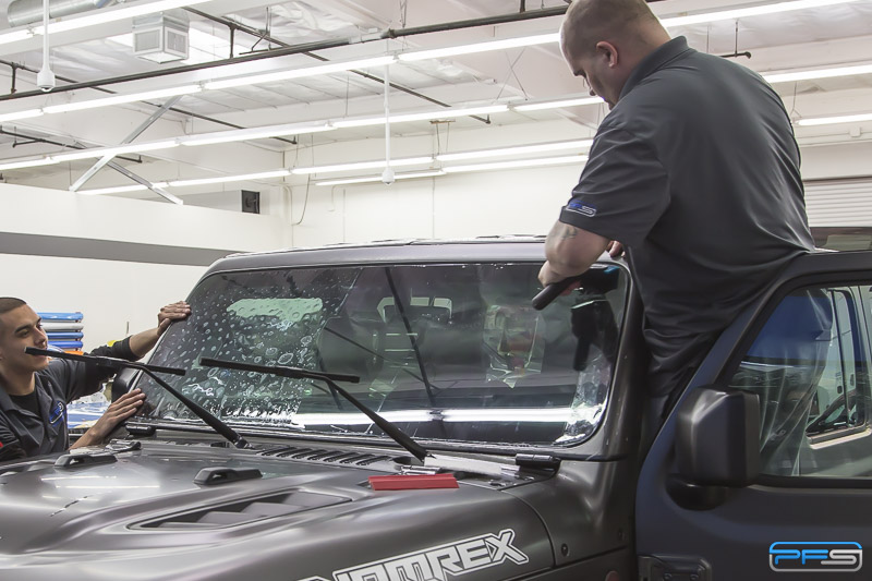 Clearplex Windshield Protection Film Installation at Protective Film Solutions in Santa Ana, California