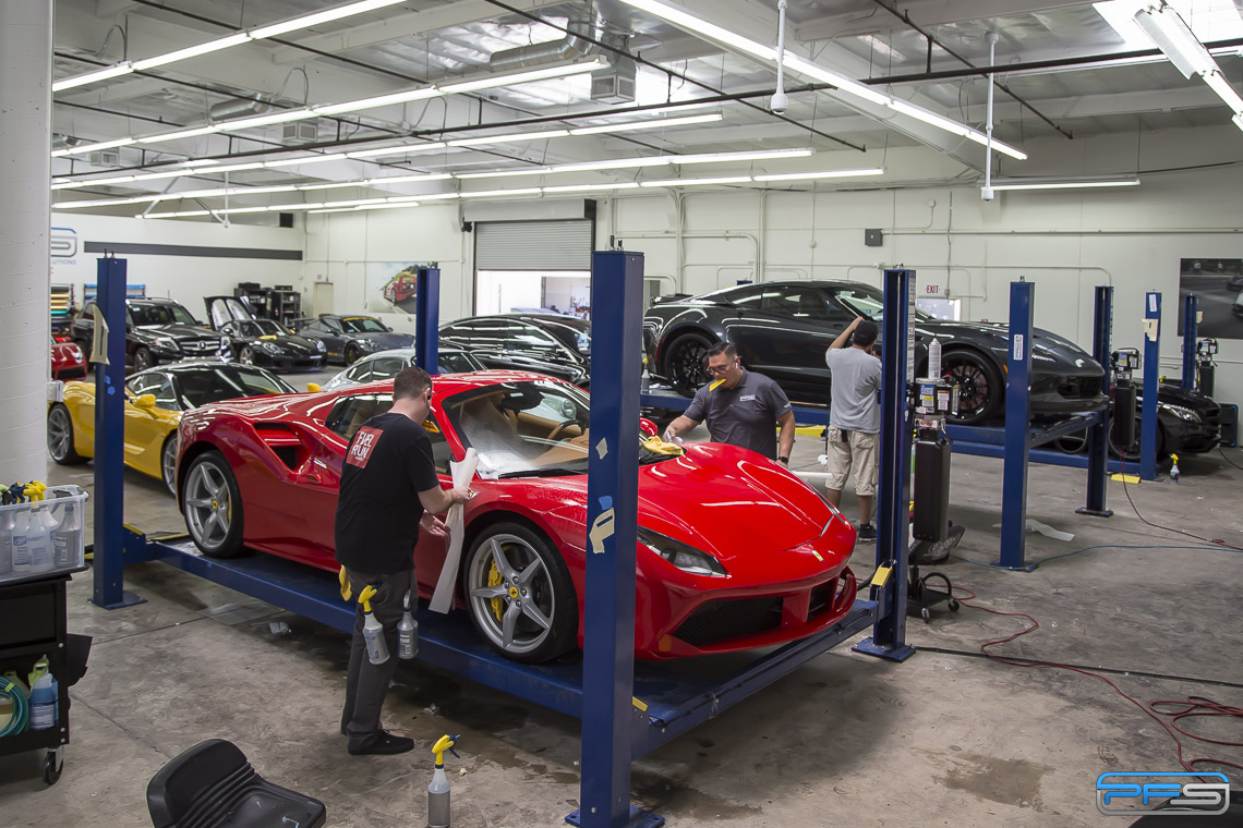 Ferrari 488 GTB Paint Protection Film by PFS