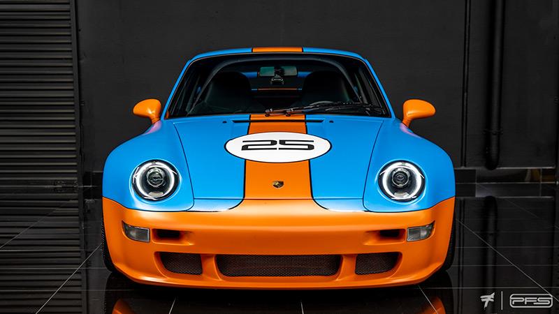Gunther Werks 400R Porsche 993 Gulf Livery