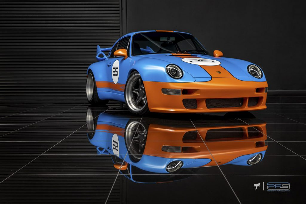 Gunther Werks 400R Gulf Livery - Skepple Design / Protective Film Solutions Wrap