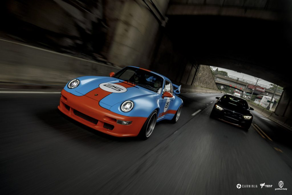 Gunther Werks 400R Rolling Shot by Ted 7. Skepple Design /  PFS Car Wrap