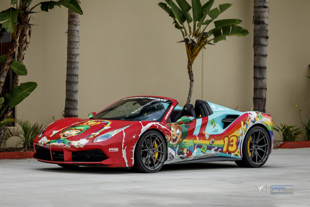 Lucky Charms Ferrari 488 by Protective Film Solutions