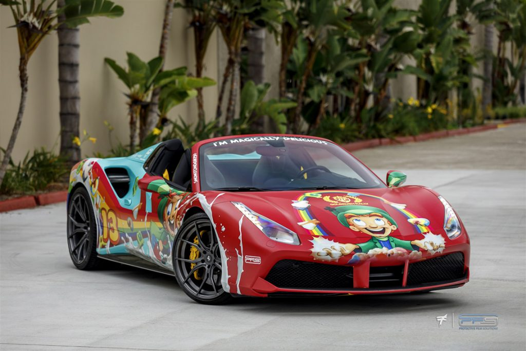 Lucky Charms Ferrari 488 by Protective Film Solutions shot by Ted 7.