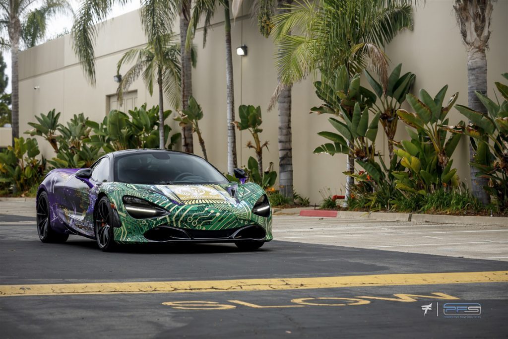 Taylor Lynn Foundation McLaren 720S - Skepple Design - Photo Ted 7. Wrap by PFS