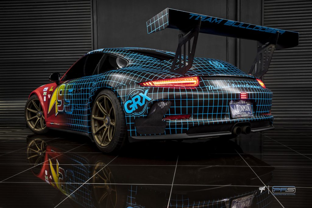 Rear Quarter View - GRX Porsche 991 Turbo S Street Cup by Protective Film Solutions.