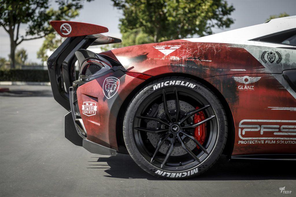 PFS McLaren 570 VX Marlboro - Rear Third