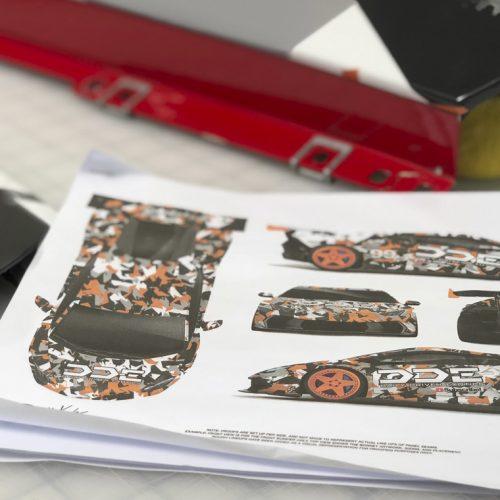 DDE Huracan SVJ Camo Orange Wrap Concept