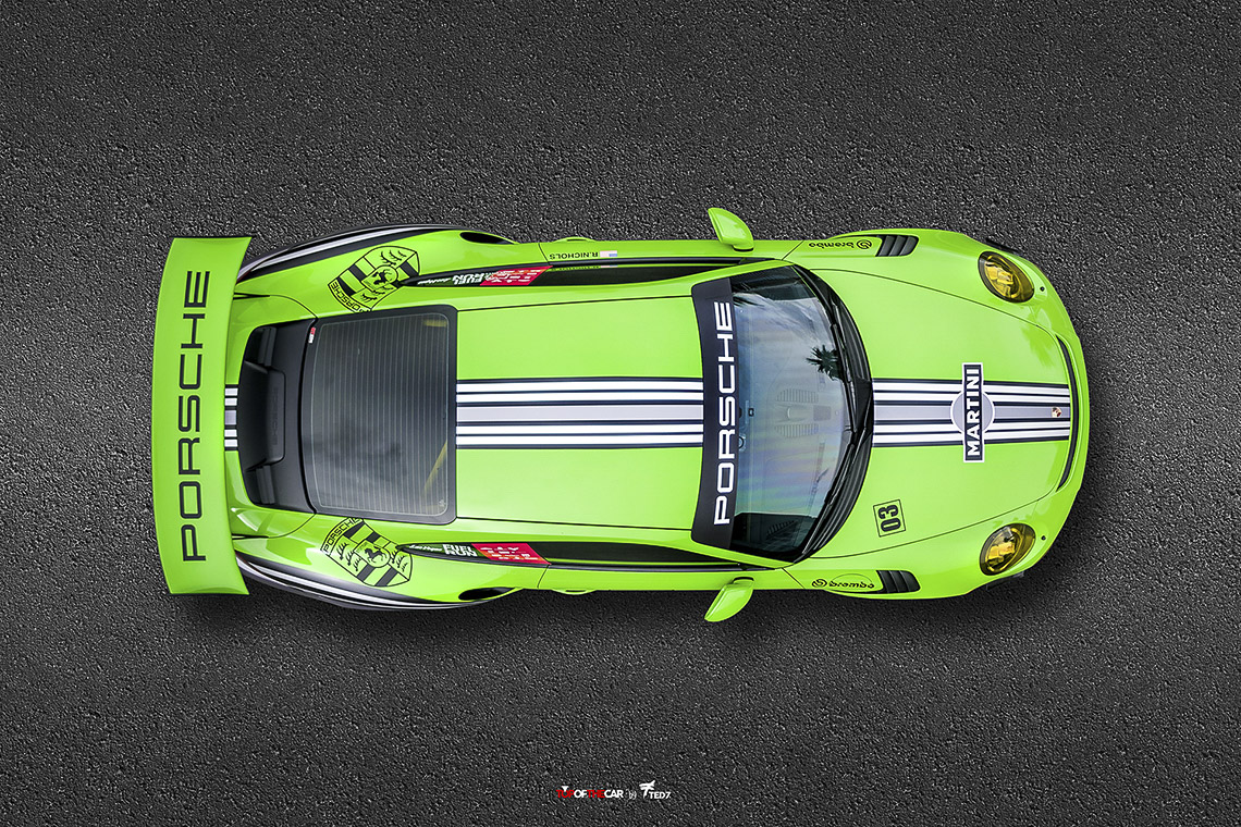 Martini Porsche 911 GT3 RS Top View