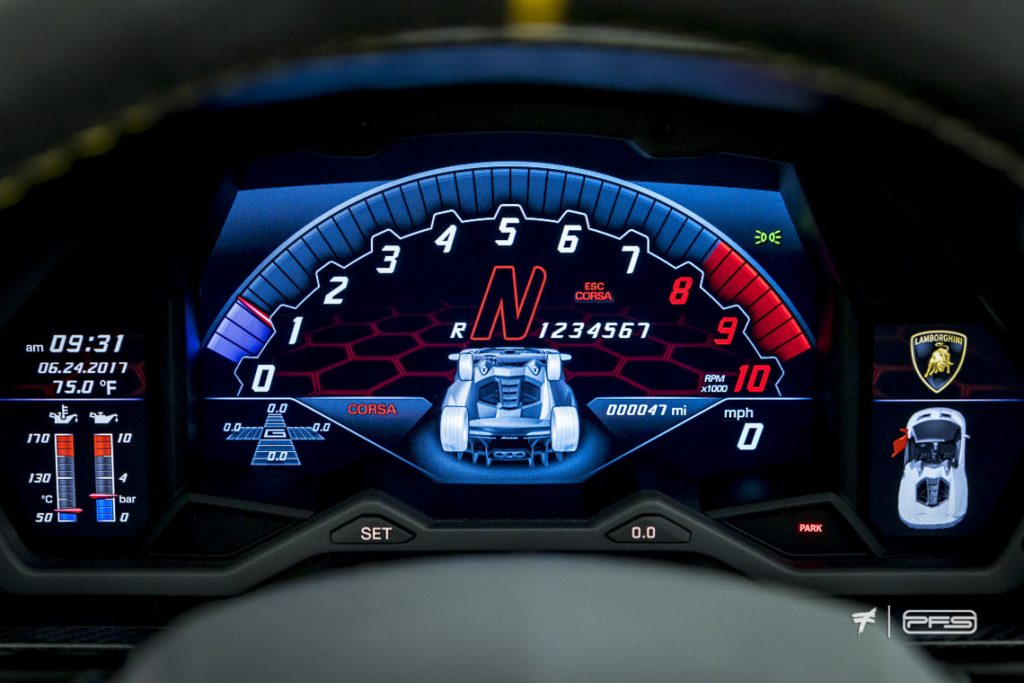 Lamborghini Centenario Gauge Cluster - Protective Film Solutions