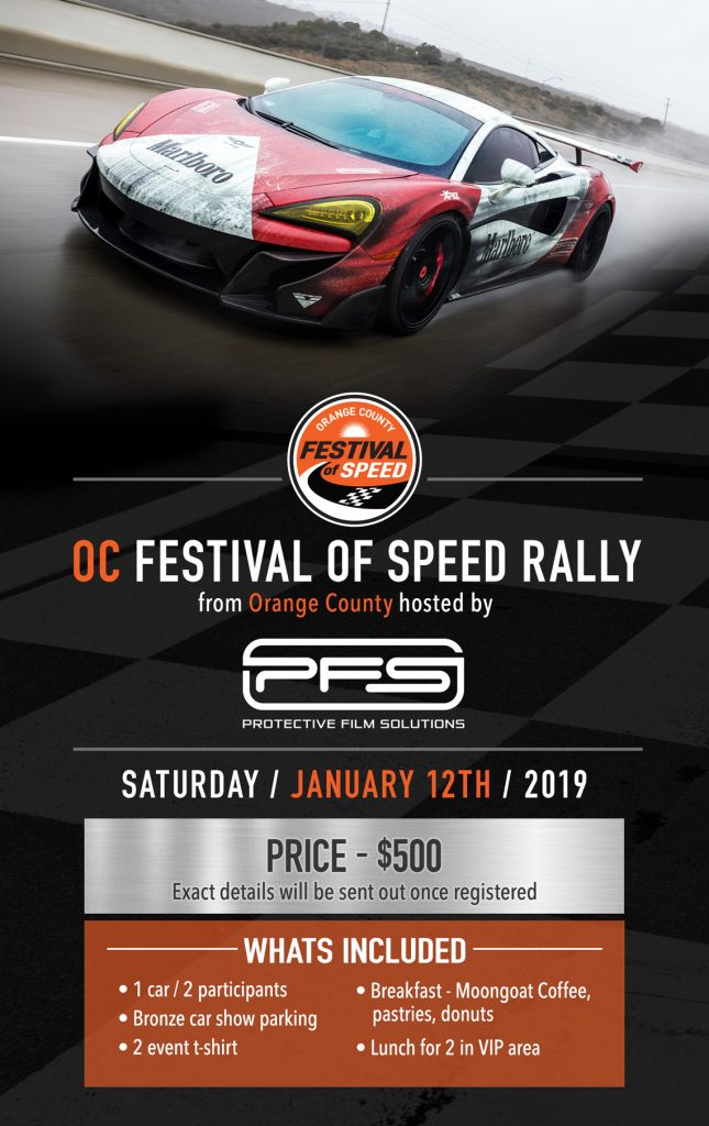 OCFOS Rally Flier - Orange County Festival of Speed